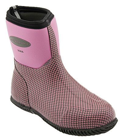 Muck Boots Scrub Boot Women Dusty Pink Houndstooth Women's | My ...