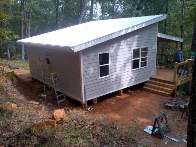 Shed Roof Over Deck Plans 20 X 24 Shed Roof Cabin In Upstate South Carolina Si1b6h2w House Roof Shed Roof Shed House Plans