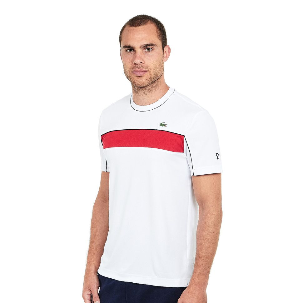 Lacoste Run Resistant Ultra Dry Pique Knit T Shirt S Lacoste Shirts Und T Shirt