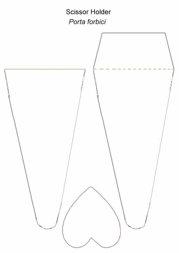 pattern for scissor holder.jpg | Manualidades con niños | Pinterest ...