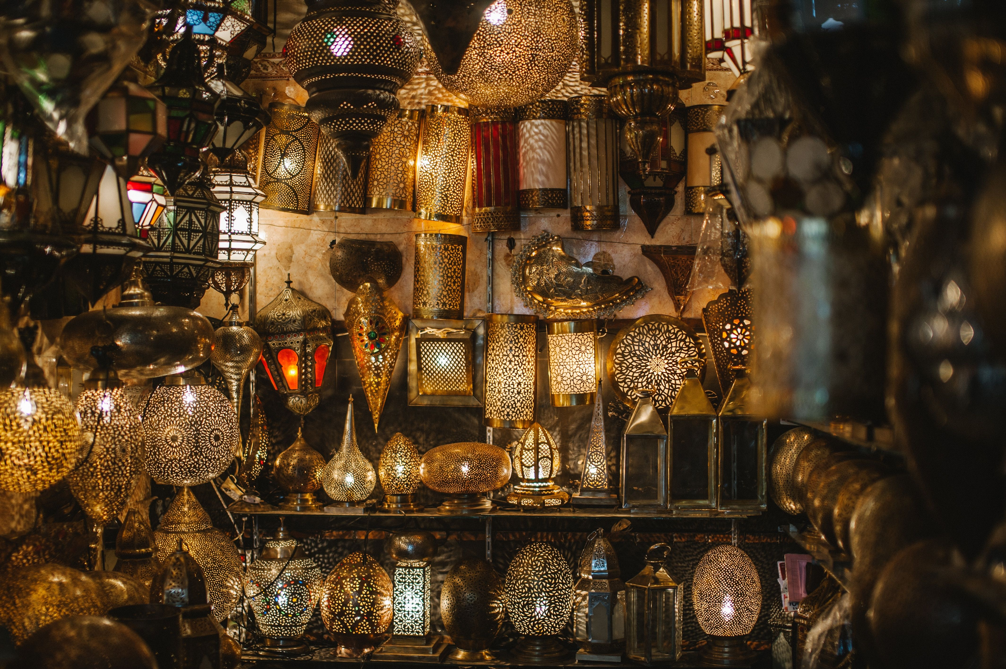 Lamps at Marrakech market