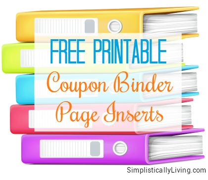 picture about Coupon Binder Printable referred to as Free of charge Printable Coupon Binder Web site Inserts! Income And