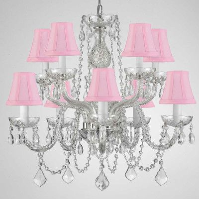 Harrison Lane Light Crystal Chandelier Shade Color Pink Crystal - Chandelier crystals pink