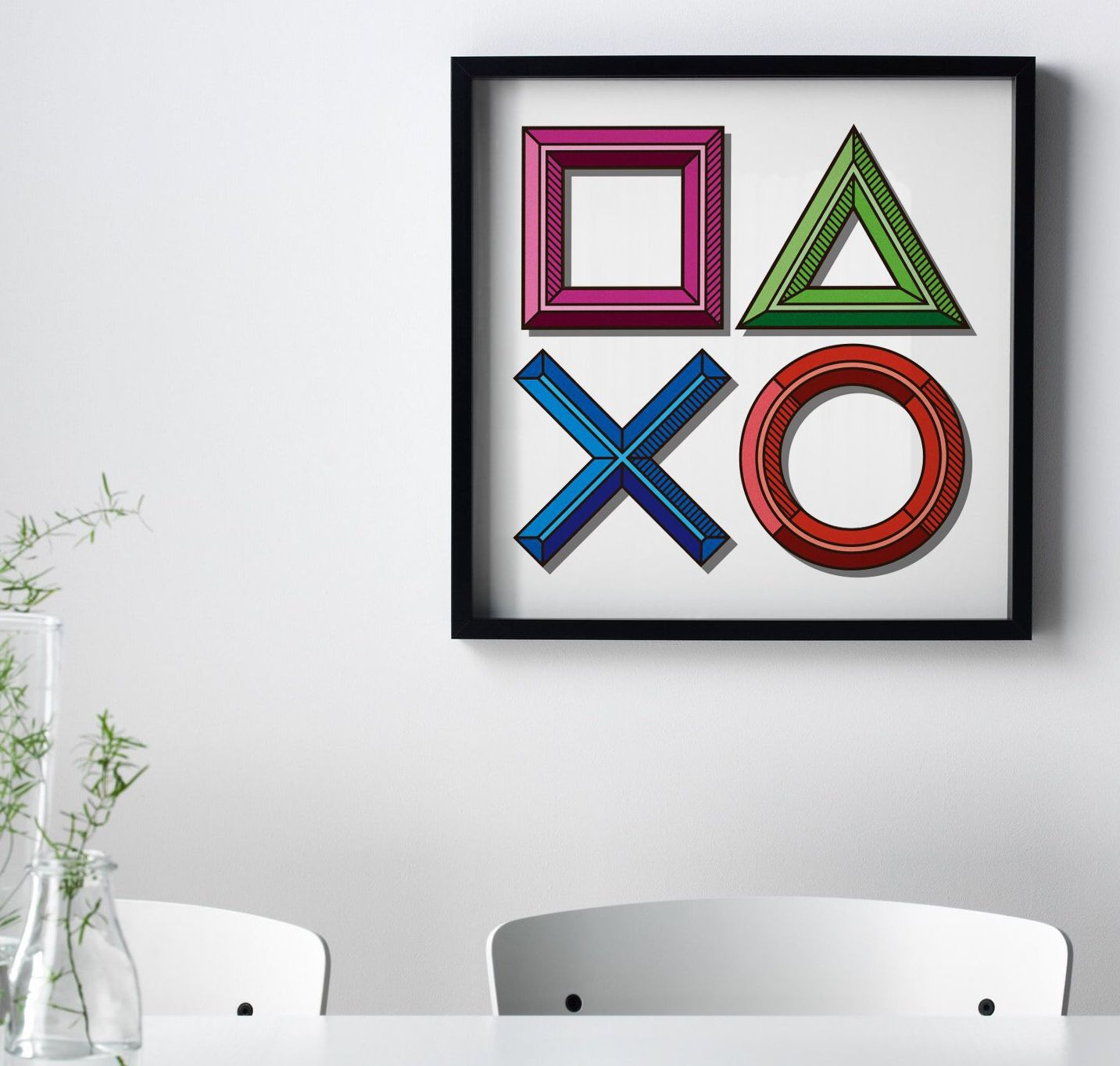 Playstation Icons Game Art Print Square Video Game Poster Etsy Video Game Wall Art Minimalist Prints Video Game Posters
