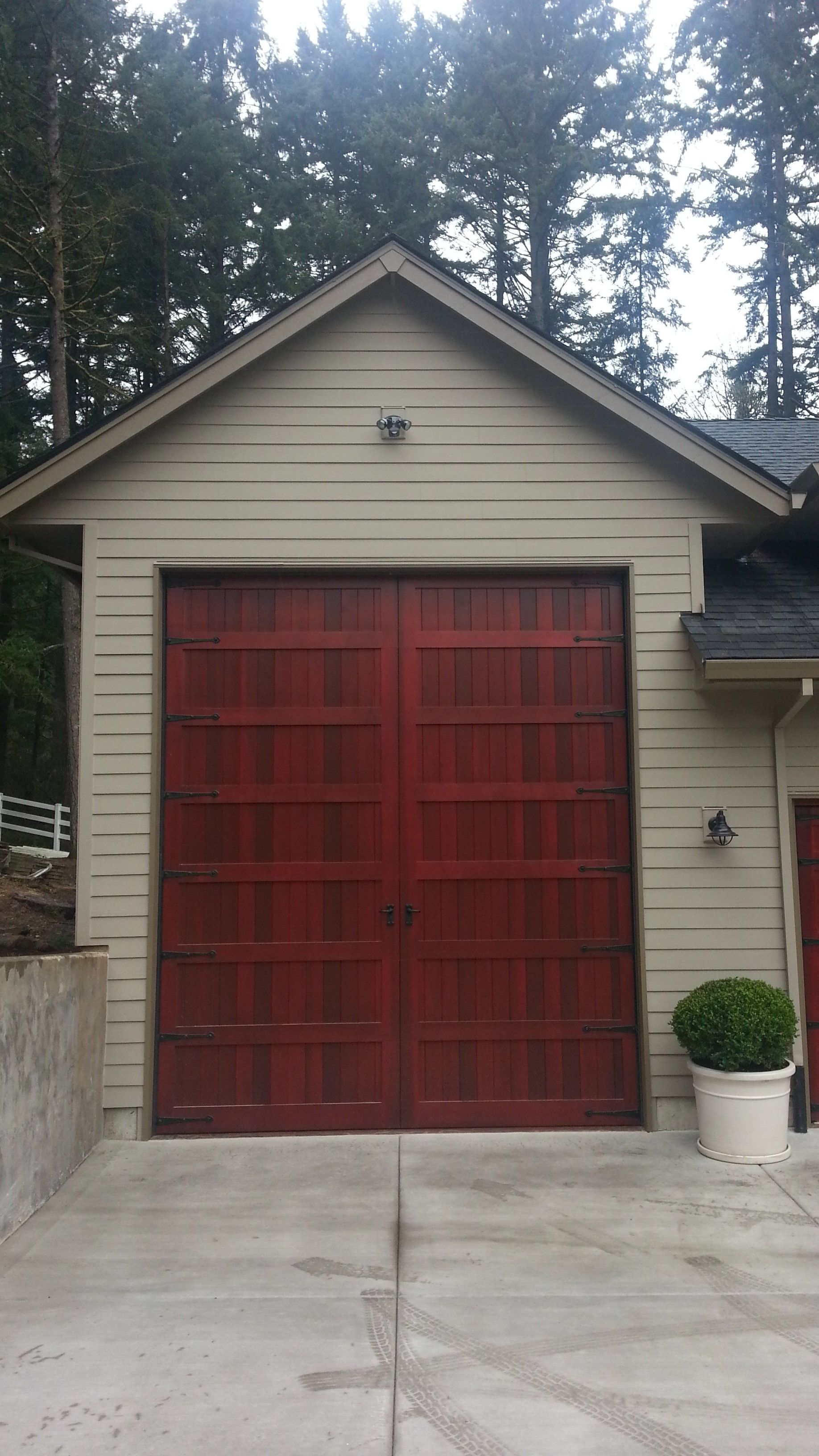 Bi fold carriage style garage door and rv port portland for Rv garage door
