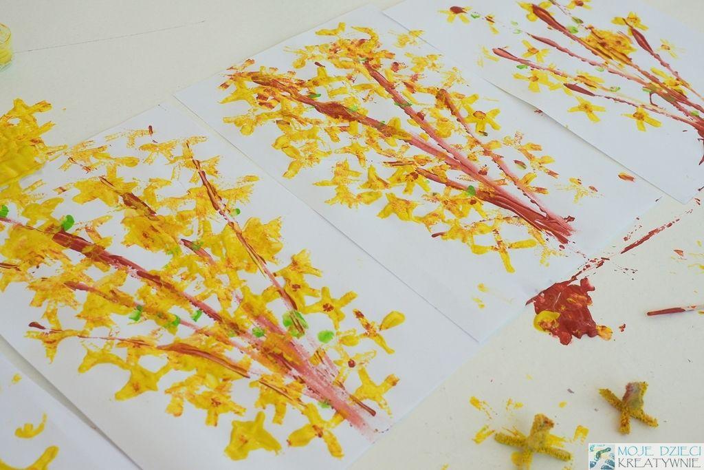 Wiosenna Praca Plastyczna Forsycja Moje Dzieci Kreatywnie Preschool Activities Craft Activities Spring Crafts
