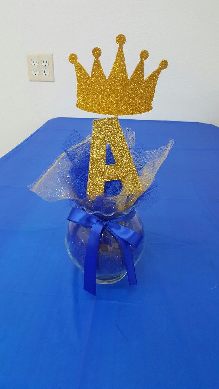 Centerpieces Royal Prince Baby Shower Baby Shower Centerpieces