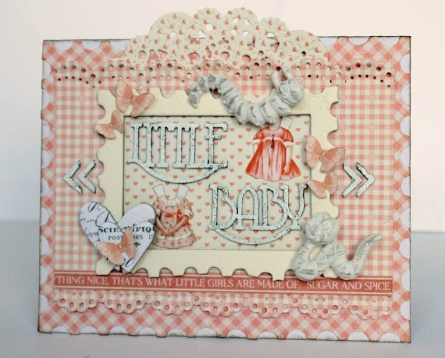 Baby card for Imaginarium Designs, pretty papers from @graphic45