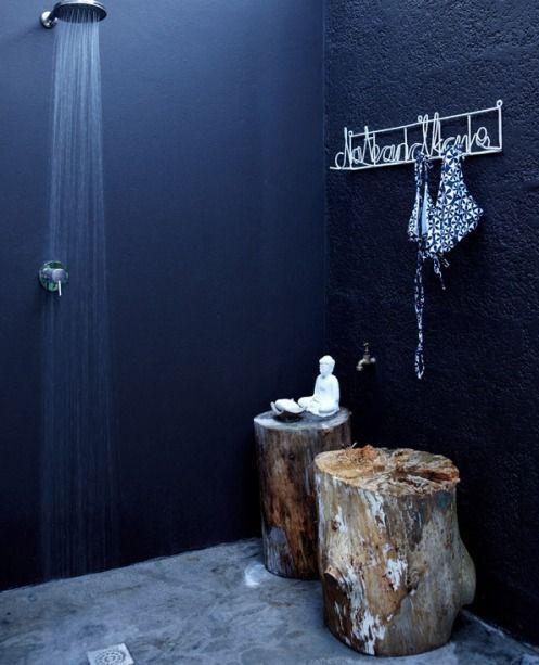 Cortinas De Baño Negras:Black Bathroom Design Ideas
