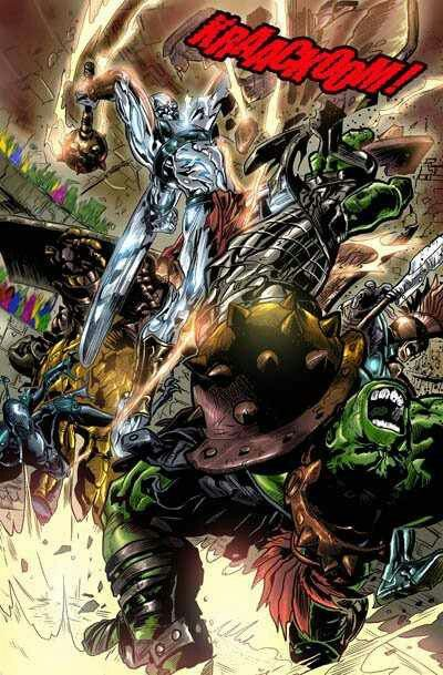 Gladiator Silver Surfer vs Gladiator Hulk | Comics | Hulk ...