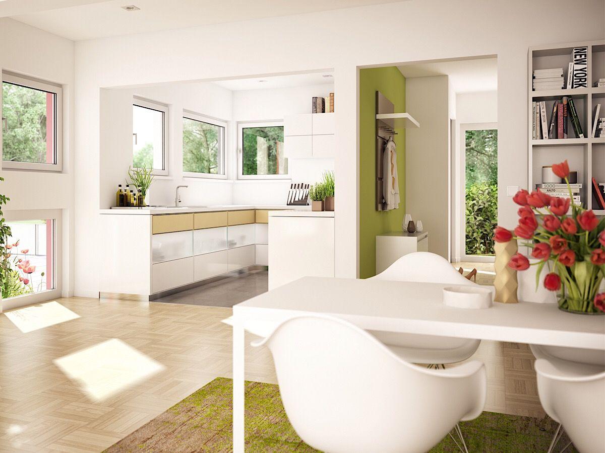 Offene Küche modern mit Essbreich Inneneinrichtung Ideen