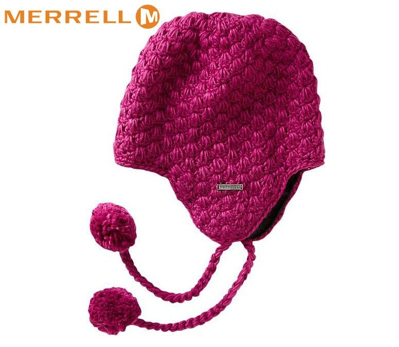 Merrell Ladies Kettle Chunky Knit Hat - Rhubarb  b82362e94da