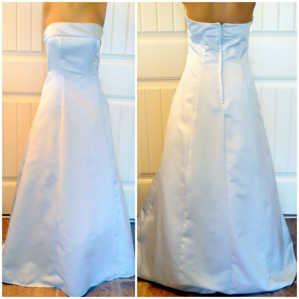 Formal dress blue prom ball gown strapless bridesmaid wedding free wrap
