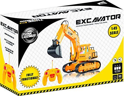 Toy Excavator Construction Vehicle TG643 – 7 Channel Full Function RC Excavator Toy For Boys & Girls – With Lights & Sounds. Detailed fully functional remote control toy excavator with lights and sound. One of the best remote control toys gift for any kid over 3 years old. Encourages imagination and concentration. Move it Forwards, backwards, left, right, or manoeuvre the arm up & down. Includes stickers so you can customize it yourself. Certainly one of the coolest construction vehicles…