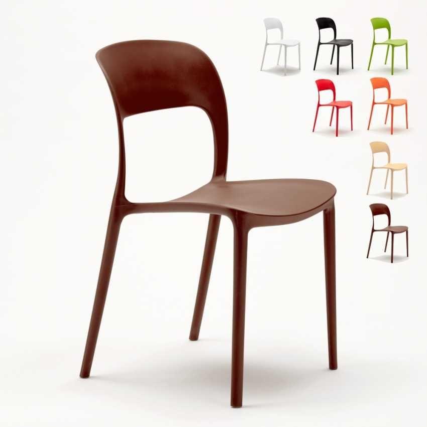 Sedie Per Esterno Da Bar.Sedie Cucina Casa Bar Ristorante In Polipropilene Design