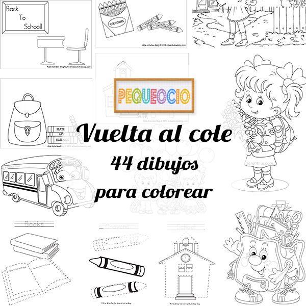 44 dibujos para colorear ¡vuelta al cole   Pinterest   La vuelta ...