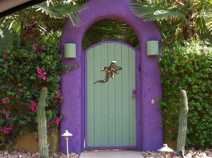 Front Doors In The La Quinta Cove Purple Front Doors