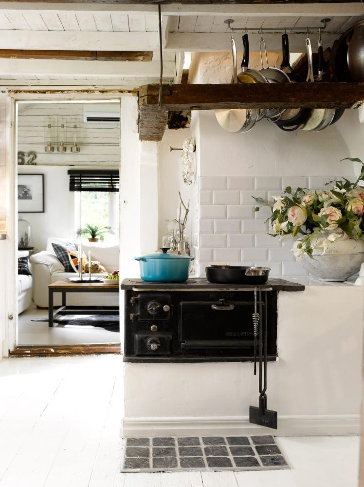 kitchen en la casa Pinterest Old stove, Cottage kitchens and