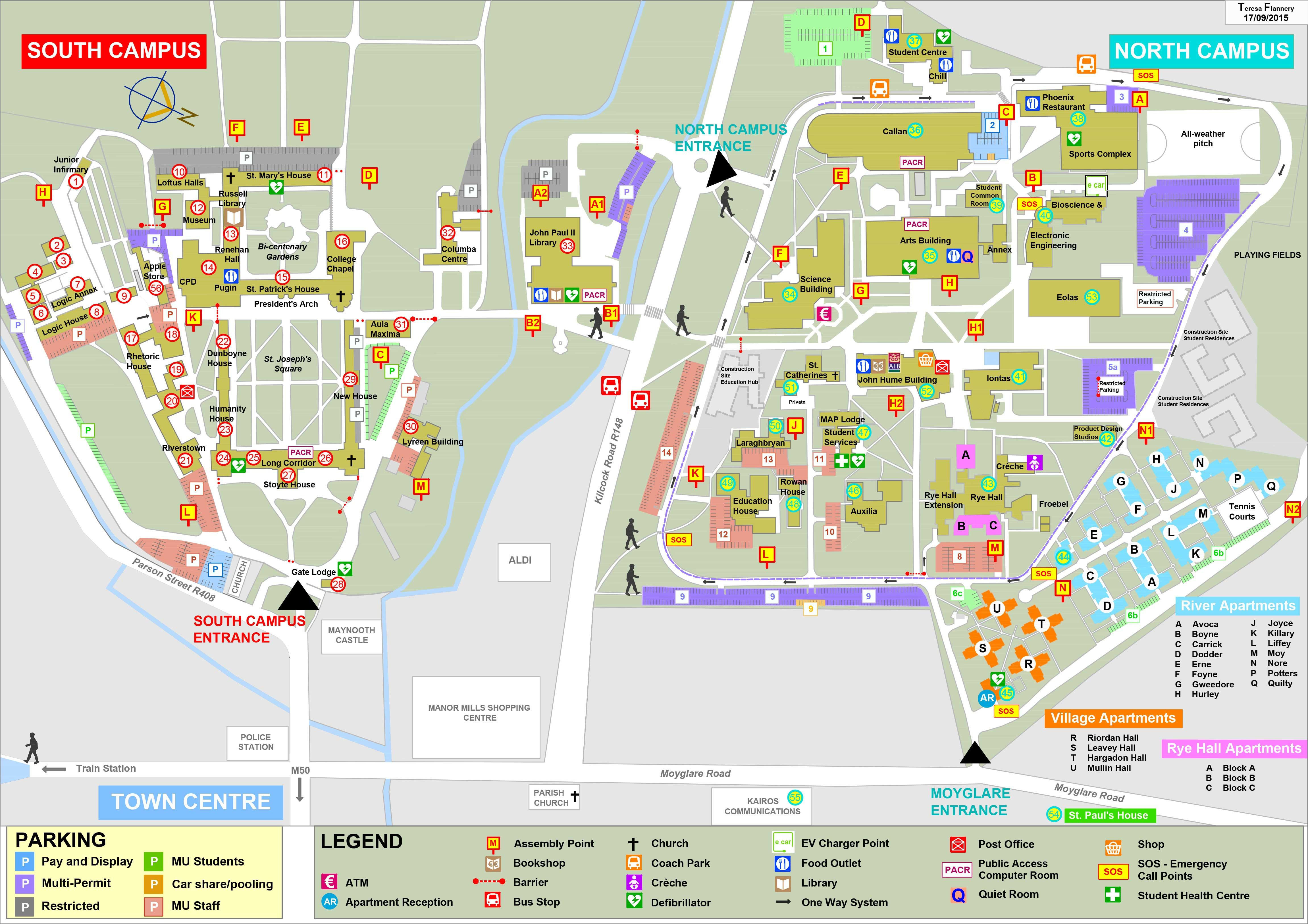 map of maynooth campus Campus Map For Maynooth University Campus Map Campus North Campus map of maynooth campus