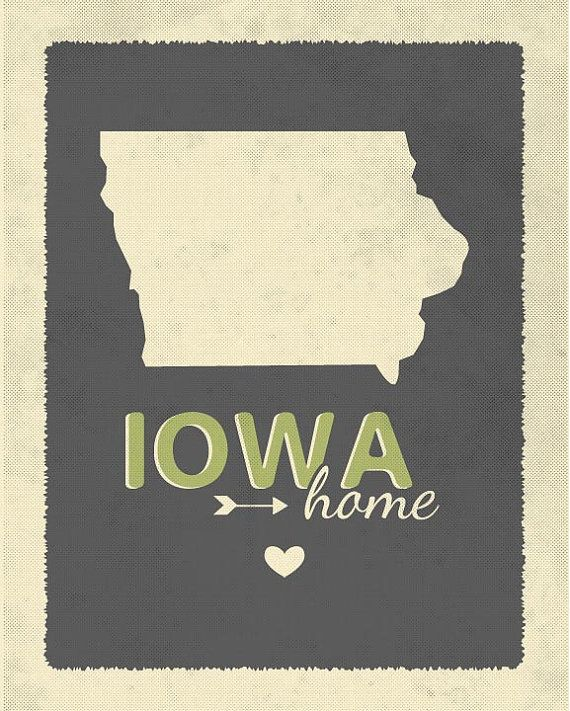 IOWA home grey and green neutral....8 by 10 by EmilyBurgerDesigns