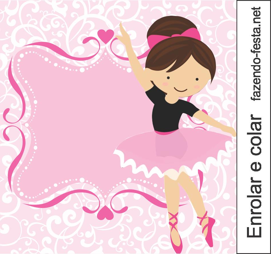 Sweet Ballerina free printable card or candy bar label. | Ballerina ...