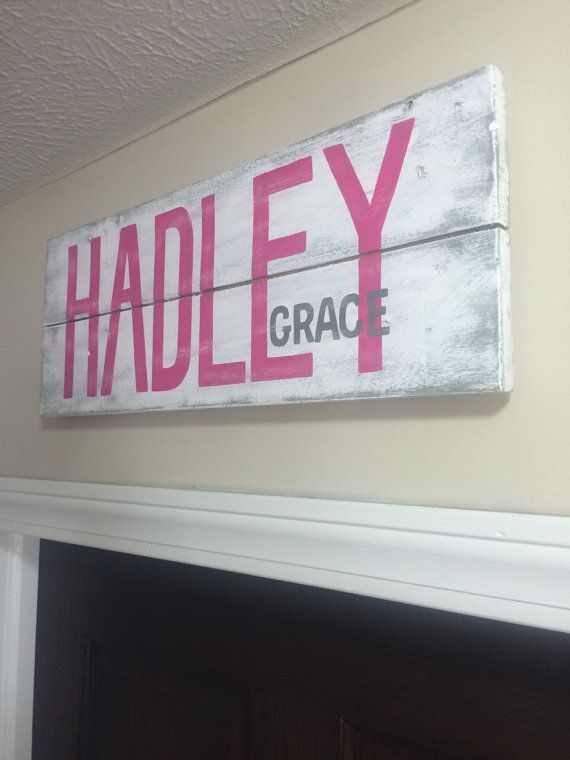 Custom Nursery Baby Name Sign Personalized By Graykeydesigns