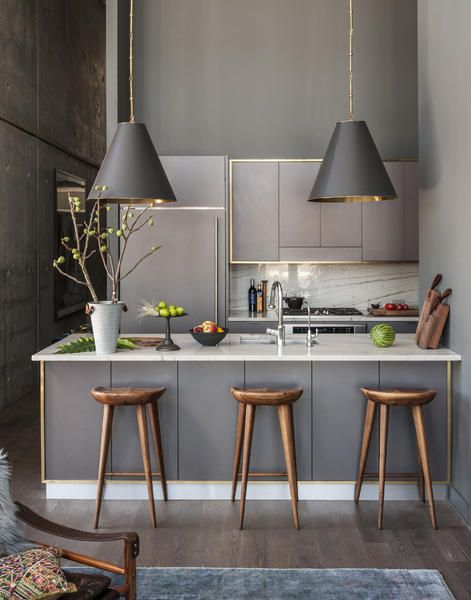 Gold gerahmte Küchenzeile | Design, Gold und Küchen | {Küchenzeile design holz 59}