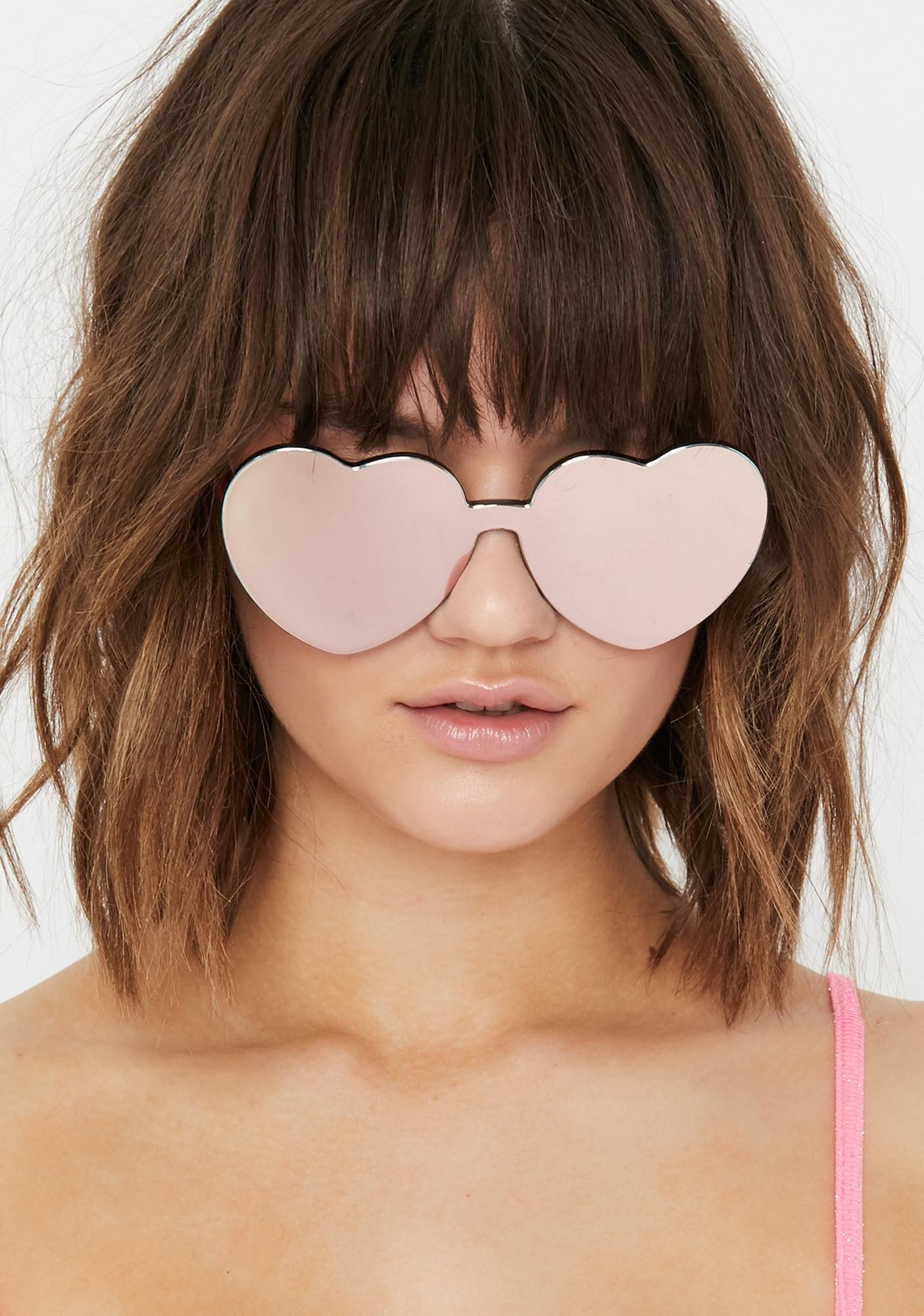 peach diet dew heart sunglasses