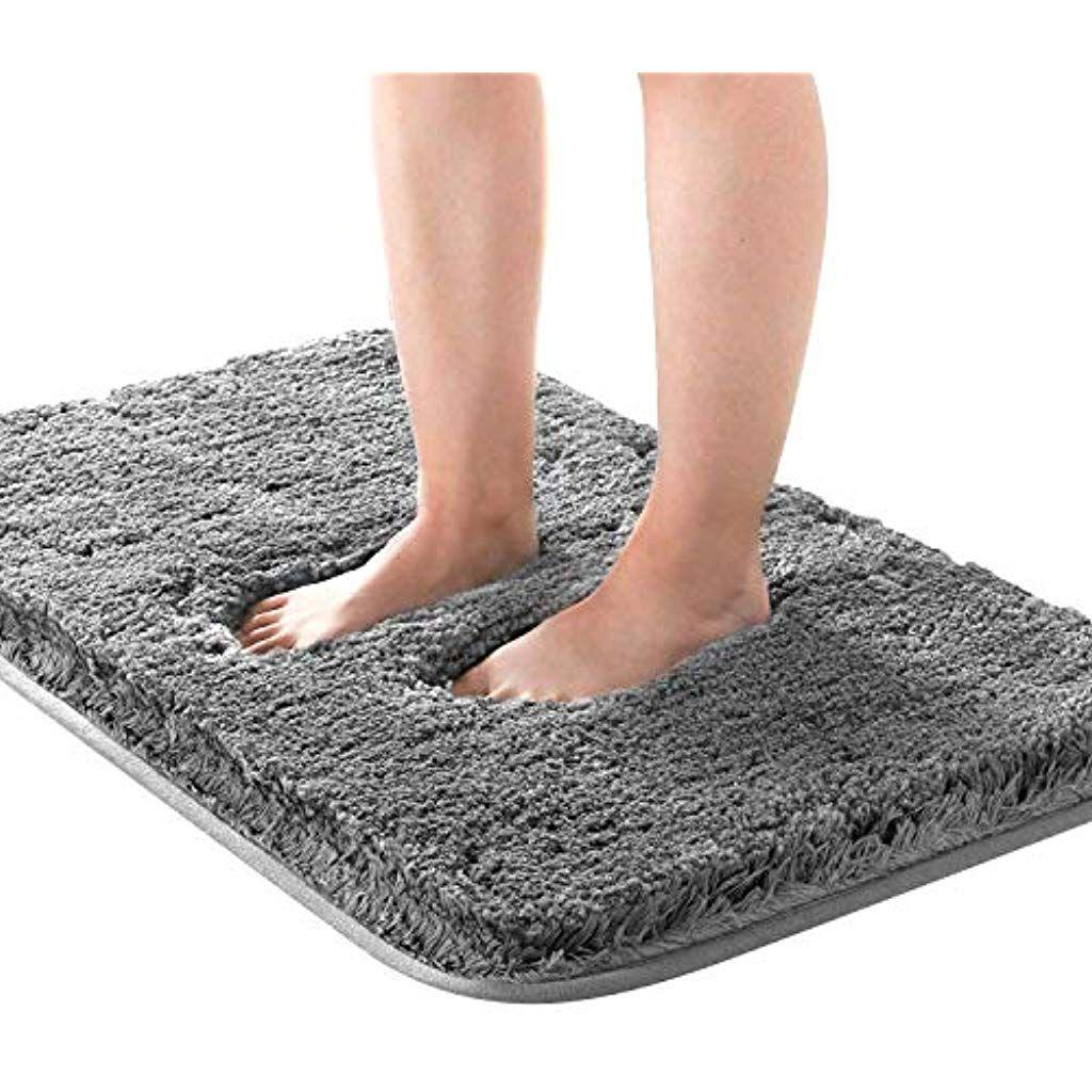 Kuyang Badematte Badteppich Badvorleger Rutschfest Waschbar Badezimmerteppich Antirutsch Badteppiche Wasserabsorbierend In 2020 Badezimmerteppich Badematten Badteppich