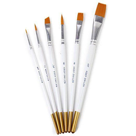 6pcs Pinceaux De Peinture Pinceaux Pour Peinture Acrylique