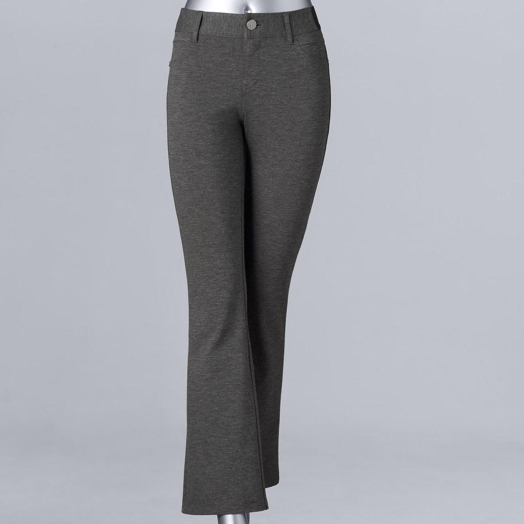 efab565fda Petite Petites Simply Vera Vera Wang Everyday Luxury Ponte Skinny Pants,  Women's, Size: PXS Short, Light Grey