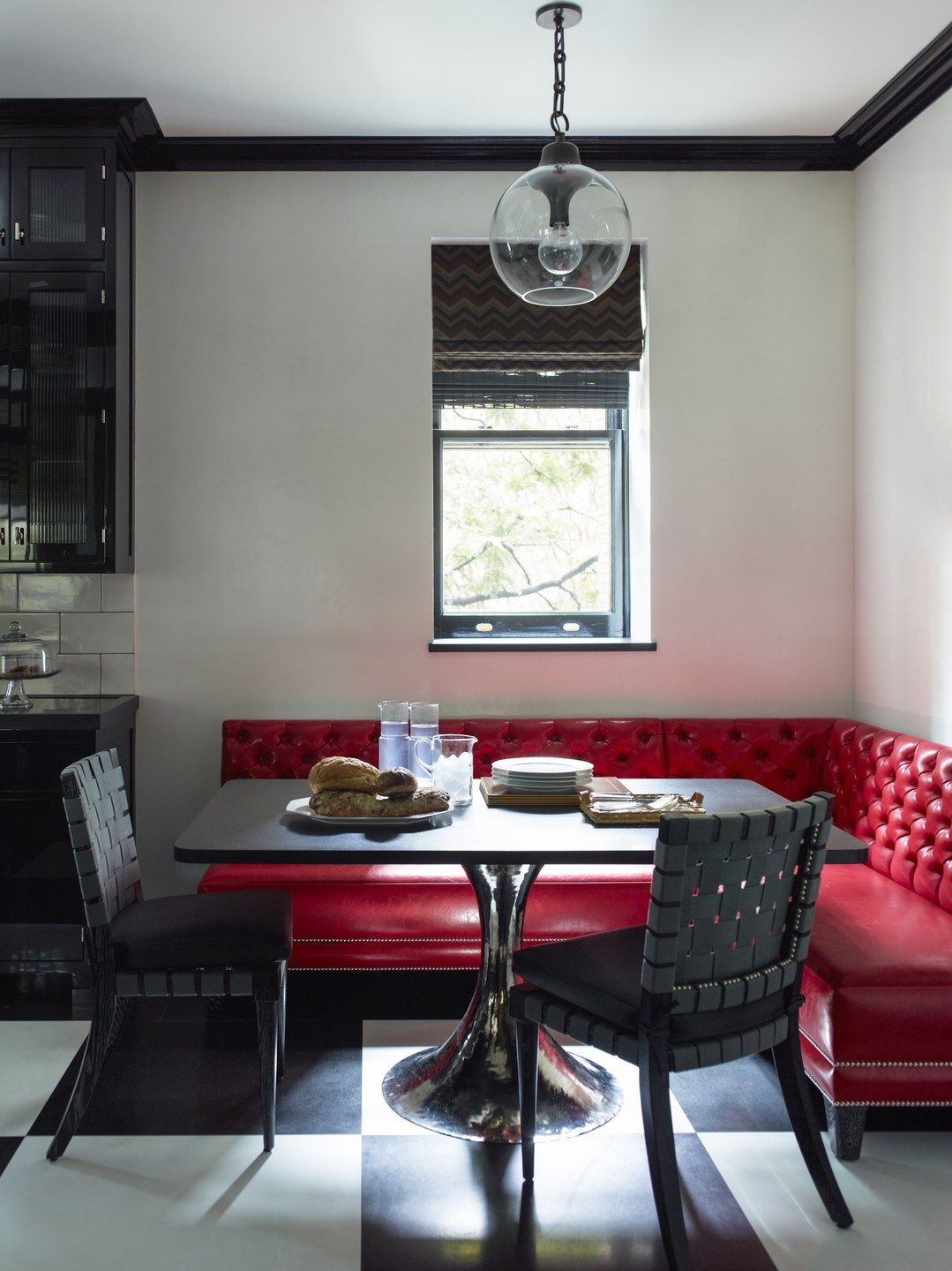 Photography Eric Piasecki Interiors 1 Black Kitchen Table Banquette Seating Kitchen Booths