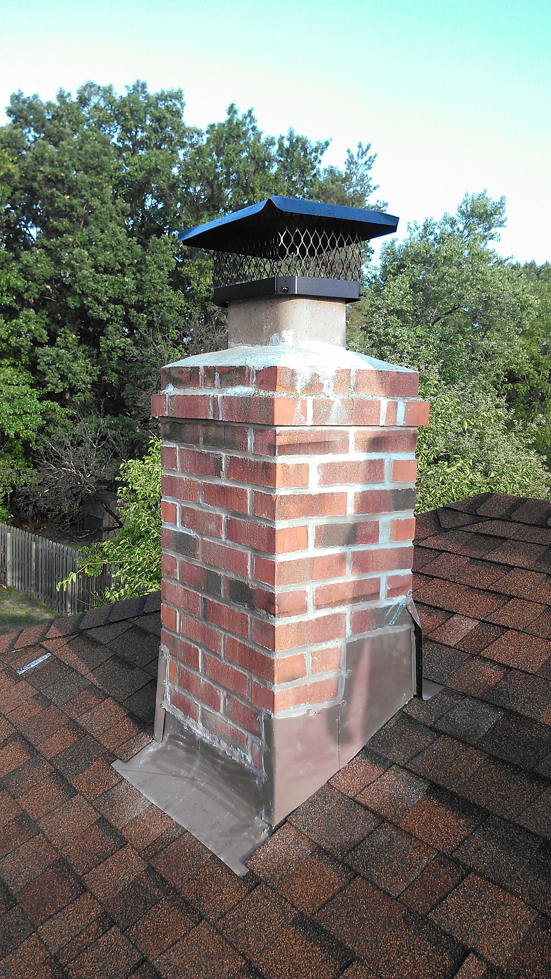 Grind Tuck Point 100 From Roof Line Up New Chimney Cap