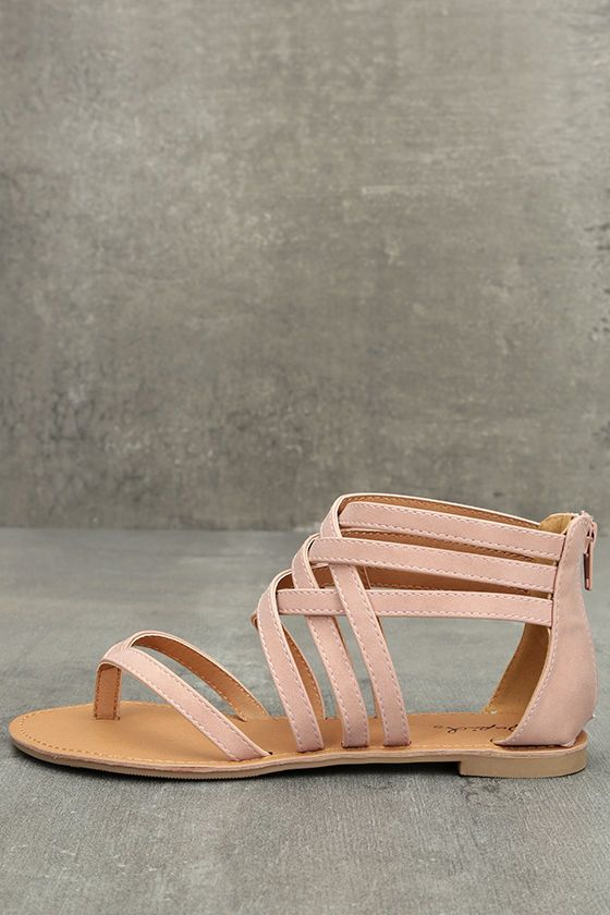 01da980bd Adorable vegan leather flat sandals have a thong toe. From Cleopatra to  Nefertiti, all the ladies will be jealous of your Cairo Queen Blush
