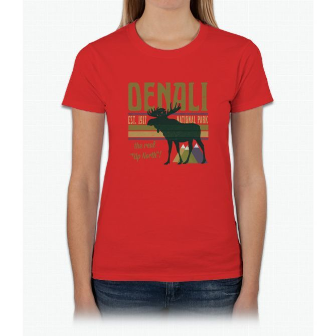 Denali National Park Moose Womens T-Shirt
