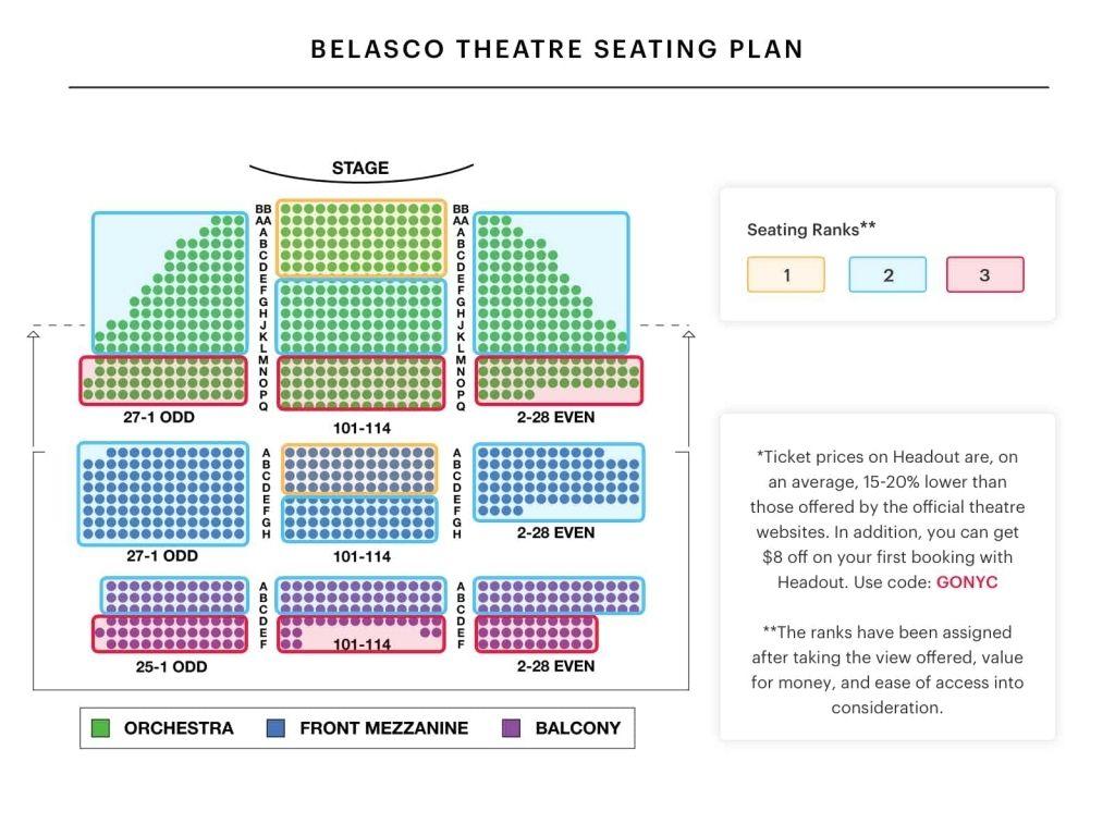Bernard B Jacobs Theatre Seating Chart Di 2020
