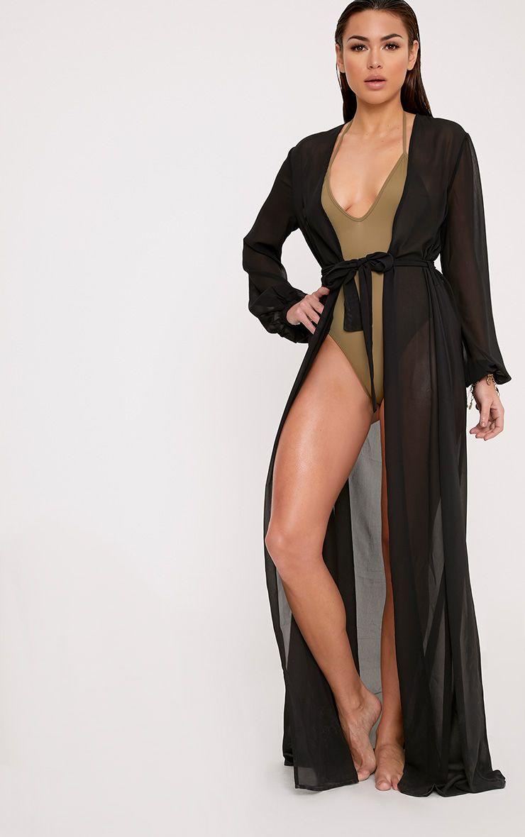 cdb149b847225 Alice White Maxi Belted Beach Kimono | Things Wanted | Beach kimono ...