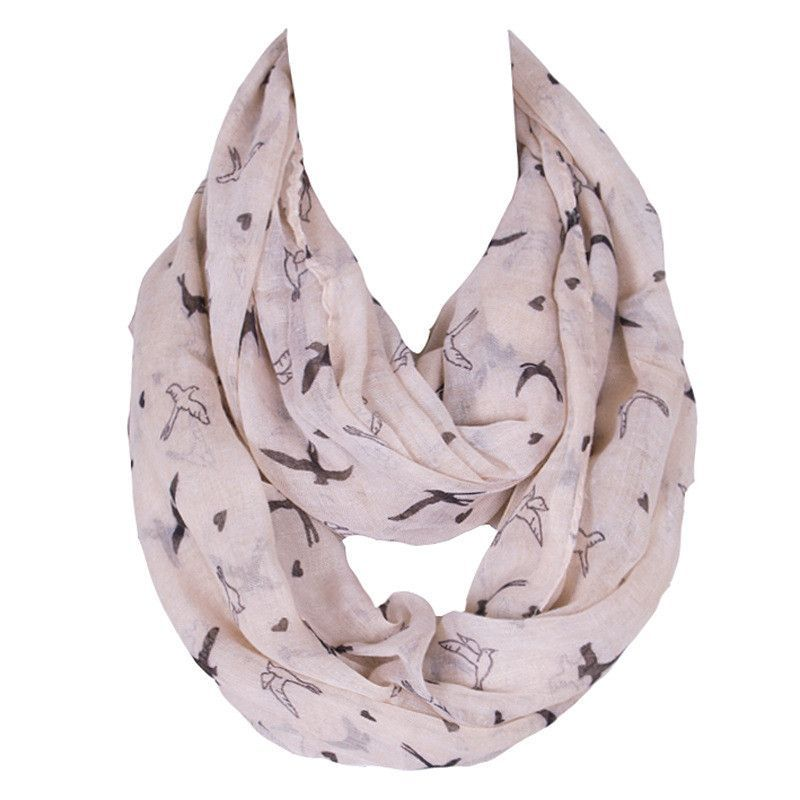 polyester women loop scarf Concise Blue Women Scarf Ring Peach Heart For Pure Lady Bufandas Cuadros Famous Brand