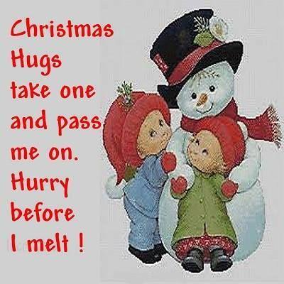 #Christmas #hug #snowman #winter #shareable. Christmas QuotesChristmas  TimeChristmas ...