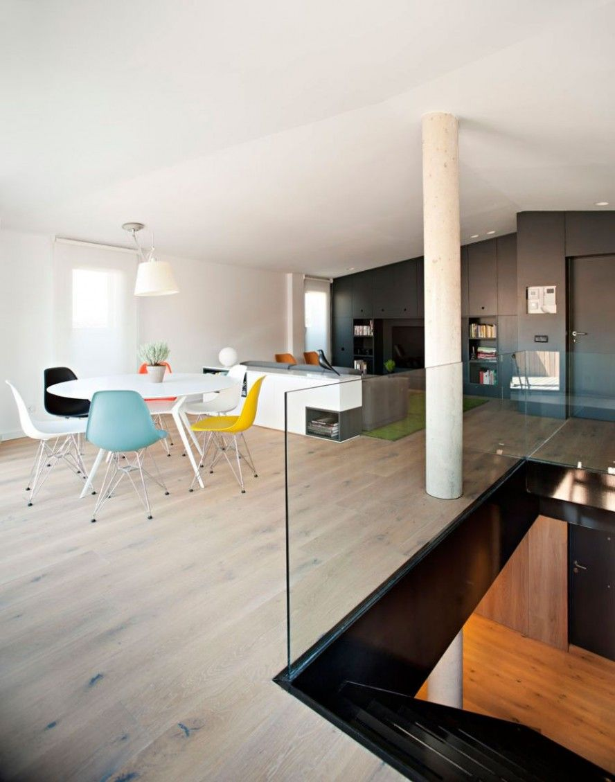 Fabulous Modern Duplex Interior Space : Colorful Additions To The Public Areas Of The Duplex Ideas
