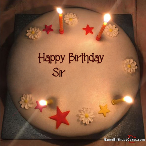 Sir Name On Cakes And Wishes Birthday Wish