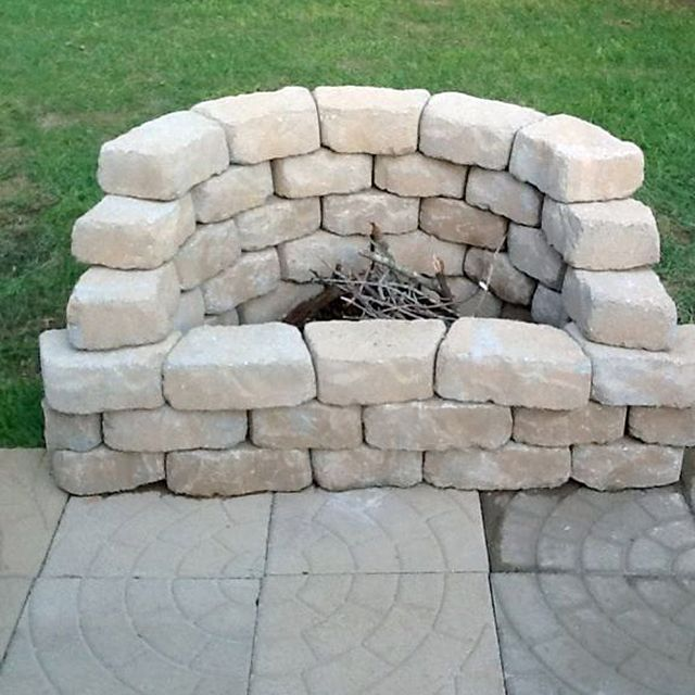 How to be creative with stone fire pit designs backyard for Stone patio ideas on a budget