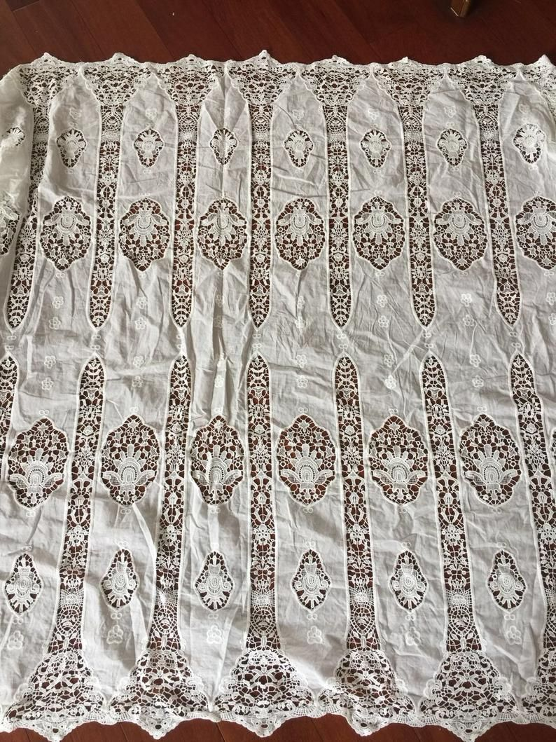 Ivory Cotton Lace Fabric By Yard Cotton Flower Fabric Bridal Dress Fabric Curtains Or Clothing Sewing In 2021 Lace Fabric Cotton Lace Bridal Dress Fabric