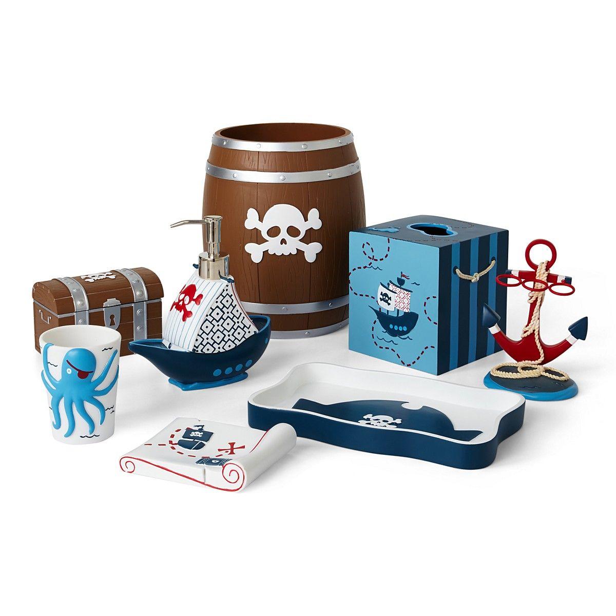 Kassatex Pirates Bath Accessories Bloomingdale S Pirate Bathroom Decor Kids Bathroom Accessories Bathroom Kids