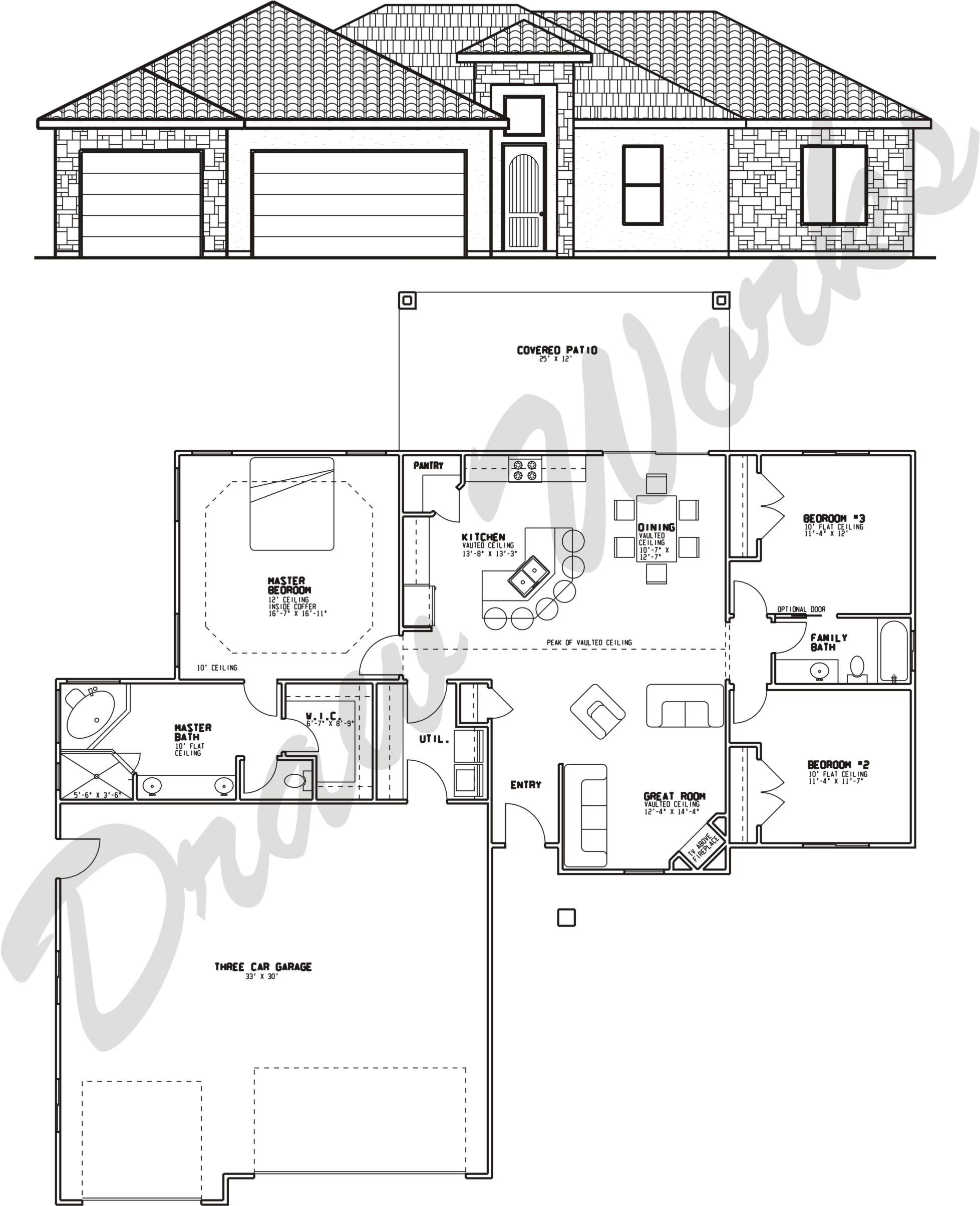 Draw Works Quality Home Design House Plans House Floor Plans How To Plan