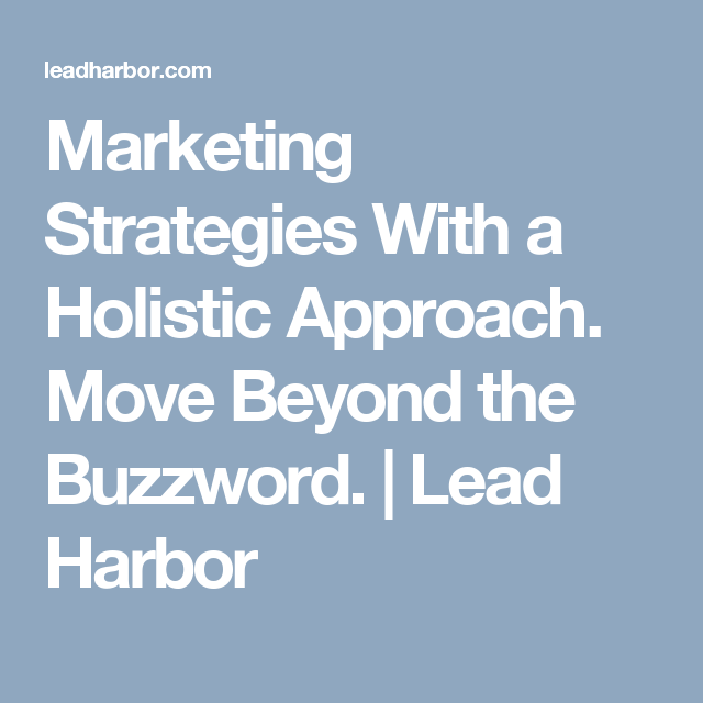 holistic marketing strategy