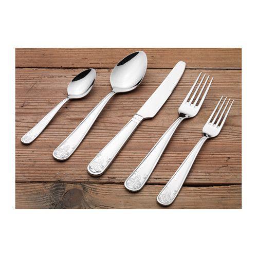 Atbart 20 Piece Flatware Set Stainless Steel Ikea Cutlery Set Stainless Steel Flatware Set Tableware Set