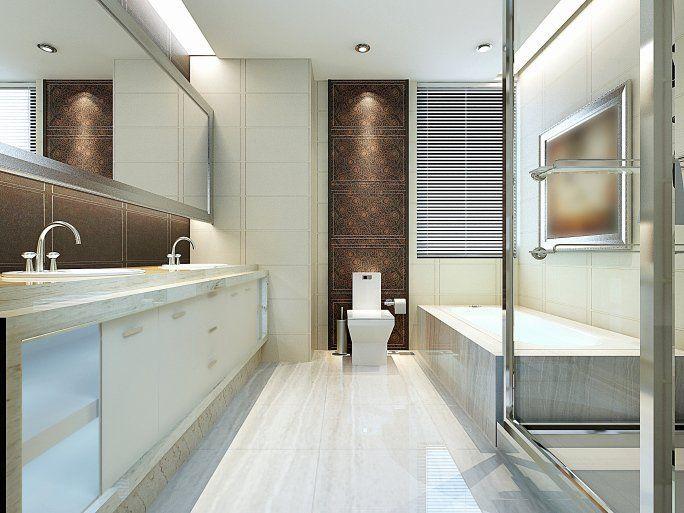 √ 24 long narrow bathroom ideas in 2020  modern luxury
