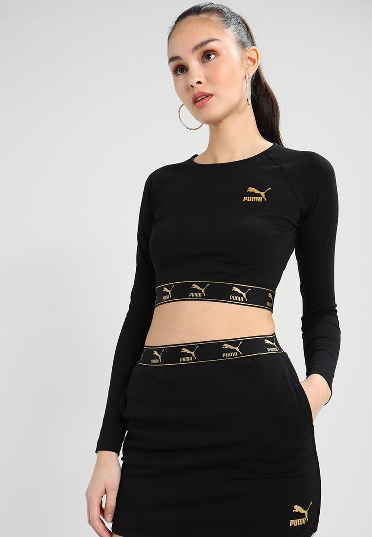 fc4cbb270a270 Puma CROPPED - Long sleeved top - black for £32.99 (12/02/18) with free  delivery at Zalando