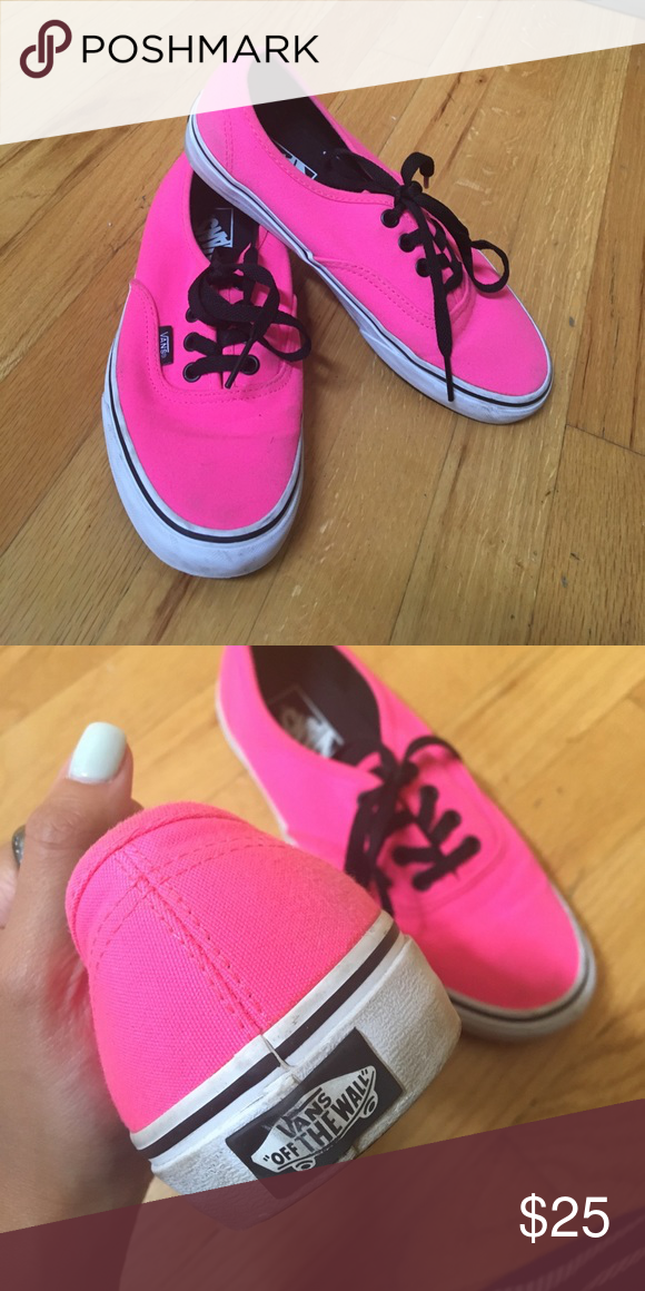 c4d8c17247 Hot pink vans These vans are gently used but in good condition! Beautiful bright  pink. Size 7.5. Vans Shoes Sneakers